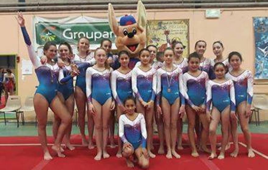 Championnat départemental par équipe FFGym les 16 et 17 février à BEZIERS.