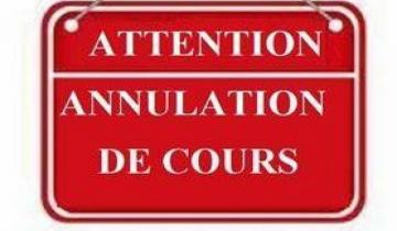 Photo COURS ANNULES 10 AVRIL 2021